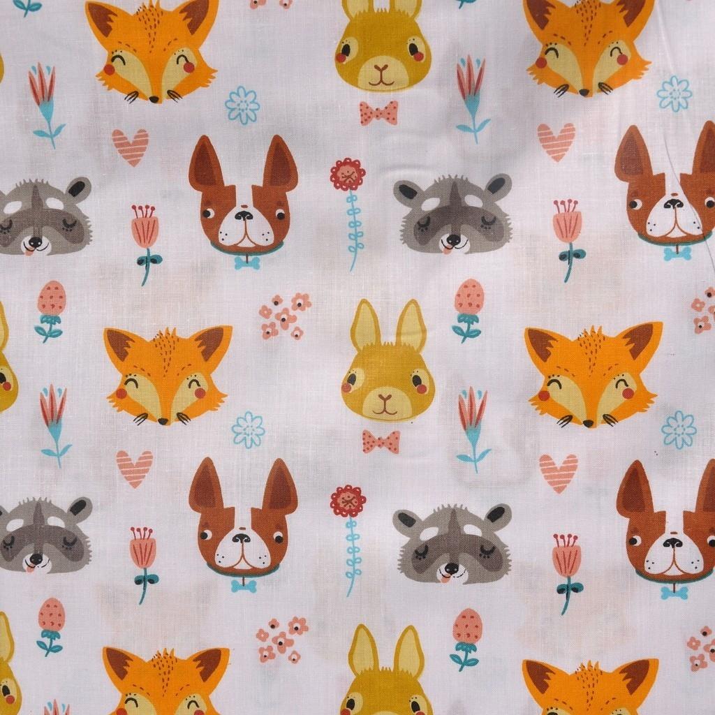 Tkanina w zwierzaki pomarańczowe