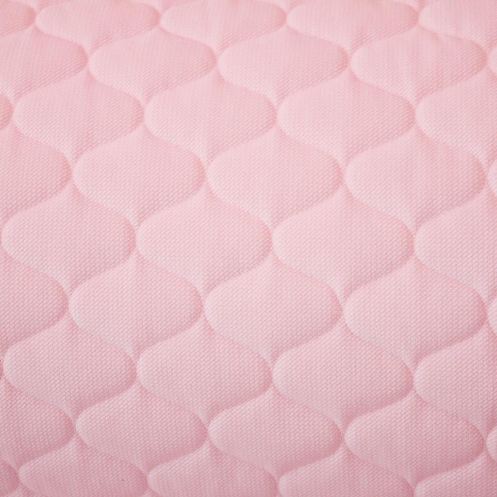 Velvet pikowany pudrowy róż (Blushing Bride) - bączki