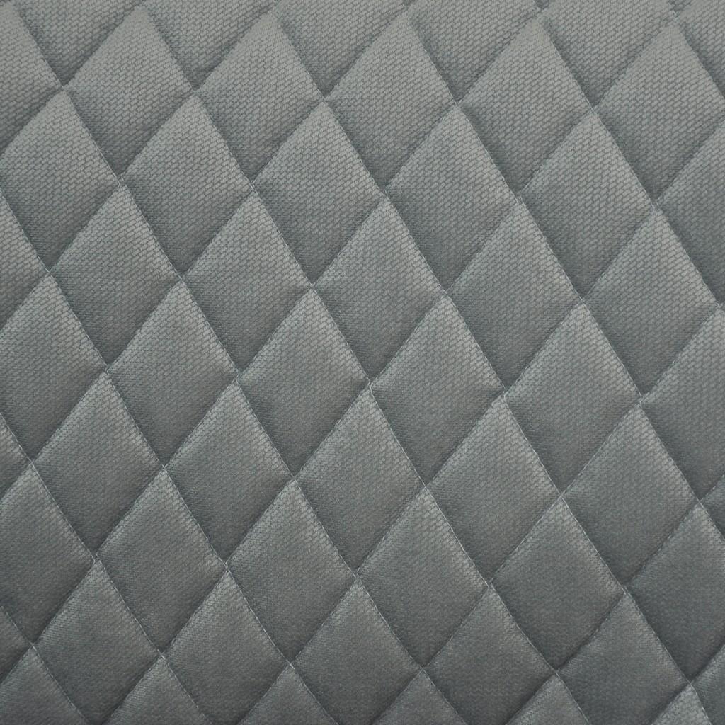 Velvet pikowany ciemny szary 12 - romby