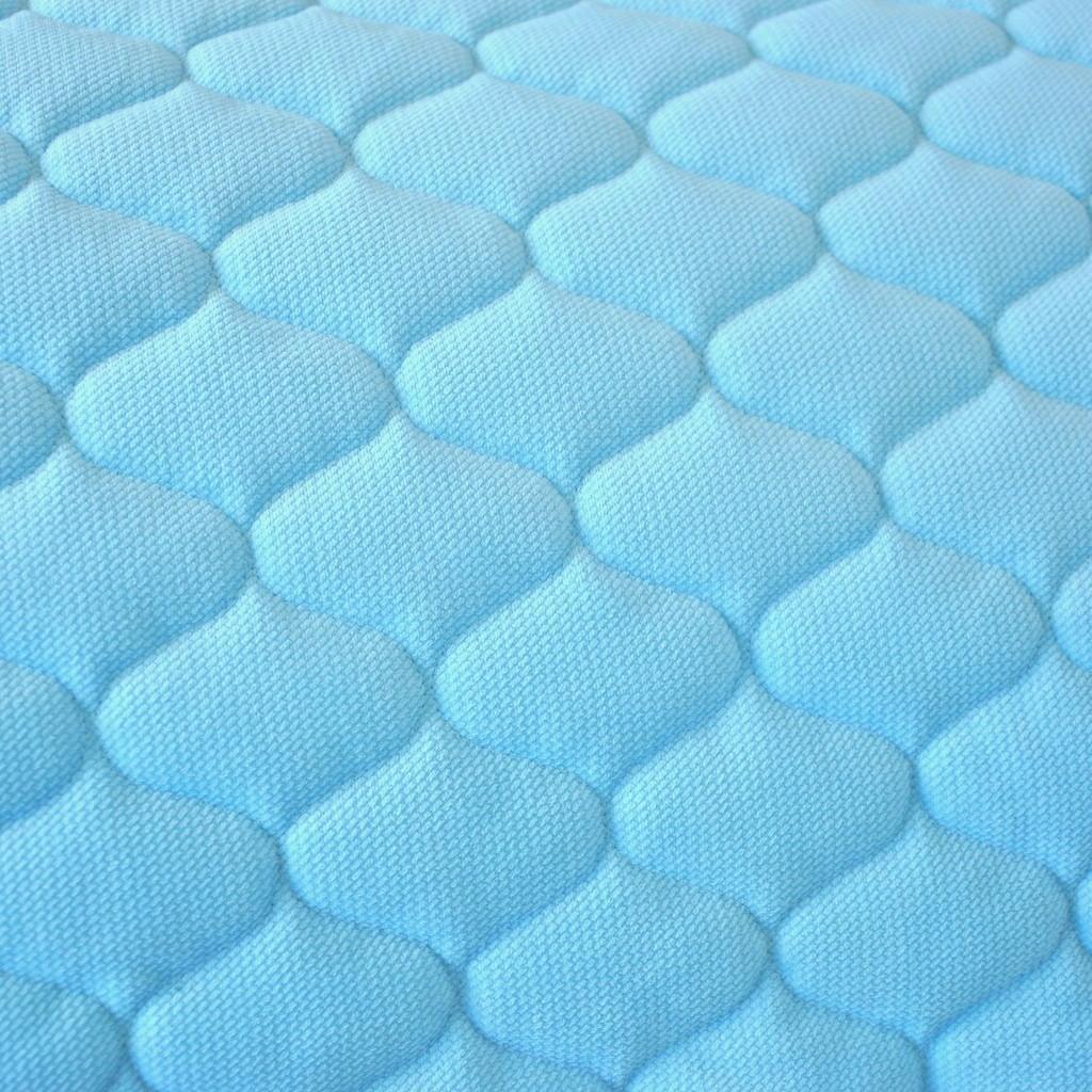 Velvet pikowany błękitny (Sky blue) - bączki