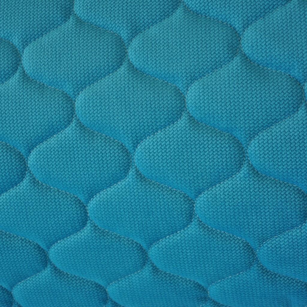Velvet pikowany lazurowy - bączki