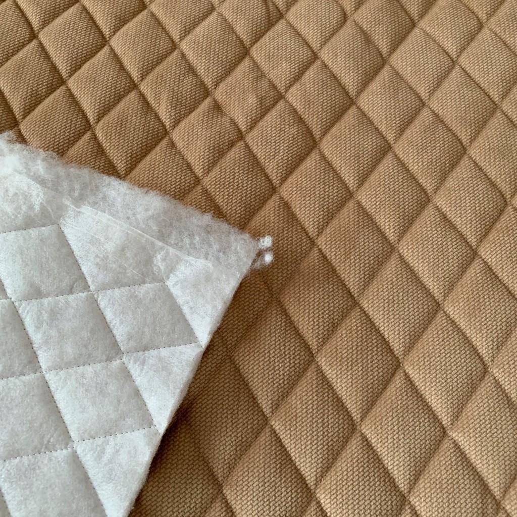 Velvet pikowany beżowy - romby