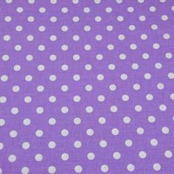 Bawełna groszki 7mm fioletowe tło