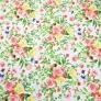 Tkanina kwiaty bukiety kolorowe na białym tle