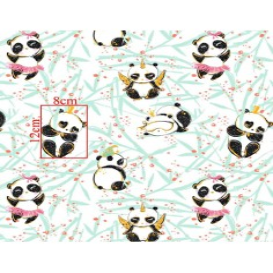 Imagén: złocona szalone pandy na białym tle