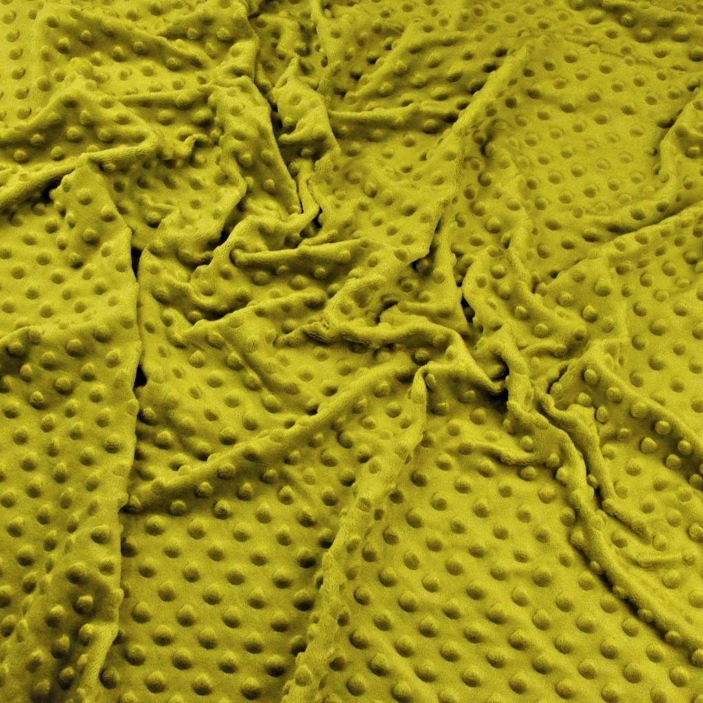 Materiał Minky Grube 380g/m2 oliwkowy