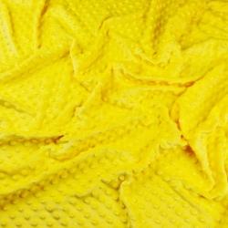 Materiał Minky Grube 380g/m2 jasny żółty