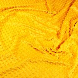Materiał Minky Grube 380g/m2 ciemny żółty