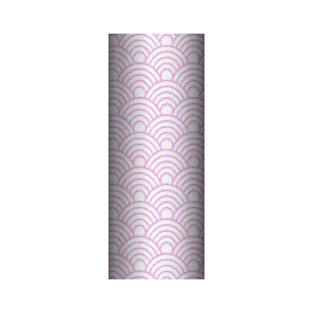 Tkanina geometryczne łuski różowe na białym tle