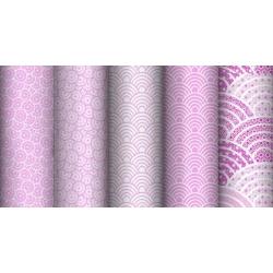 Tkanina geometryczna kalejdoskop różowy