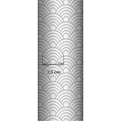 Tkanina geometryczne łuski szare na białym tle