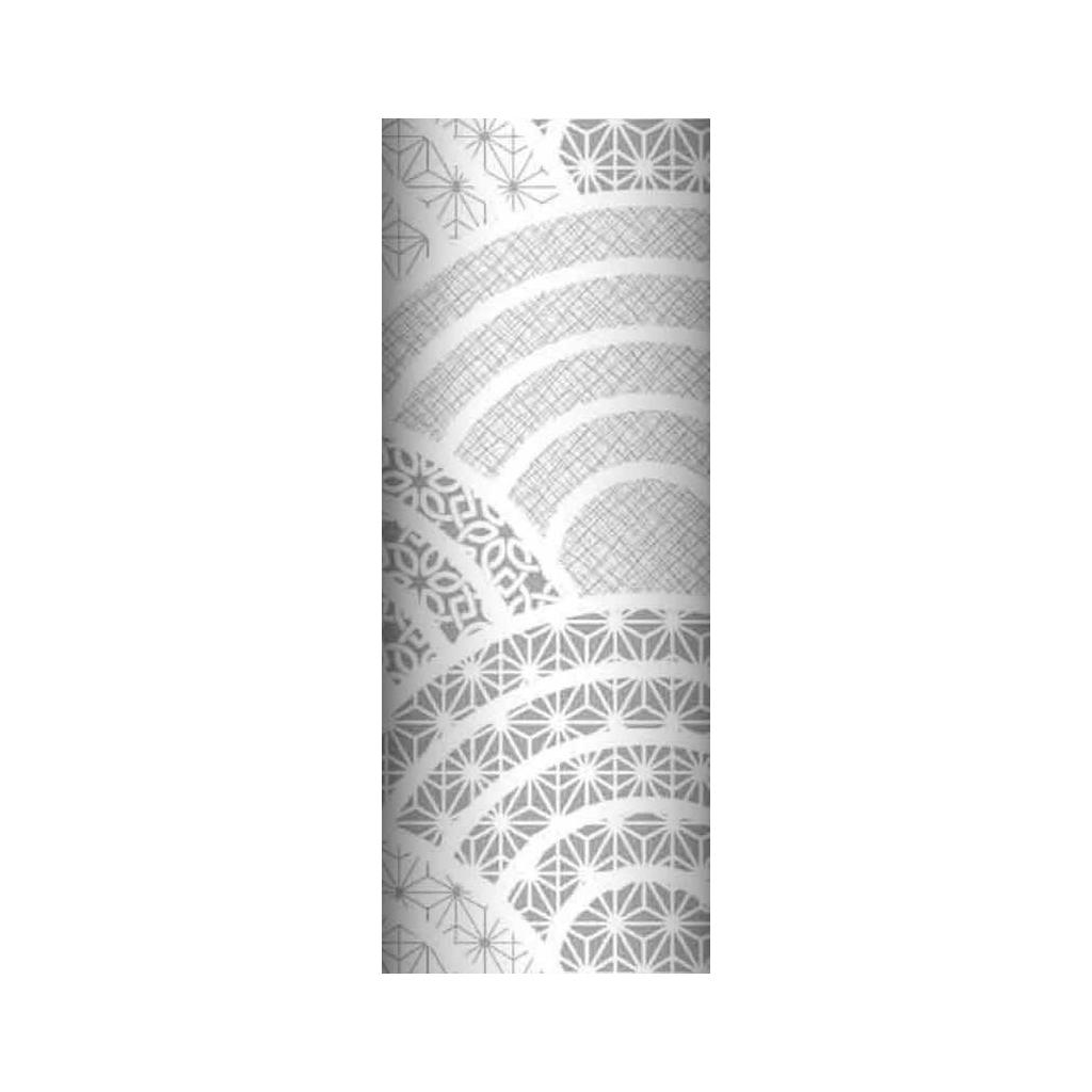 Tkanina geometryczna kalejdoskop szary