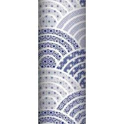 Tkanina geometryczna kalejdoskop granatowy