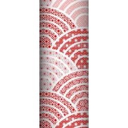 Tkanina geometryczna kalejdoskop czerwony