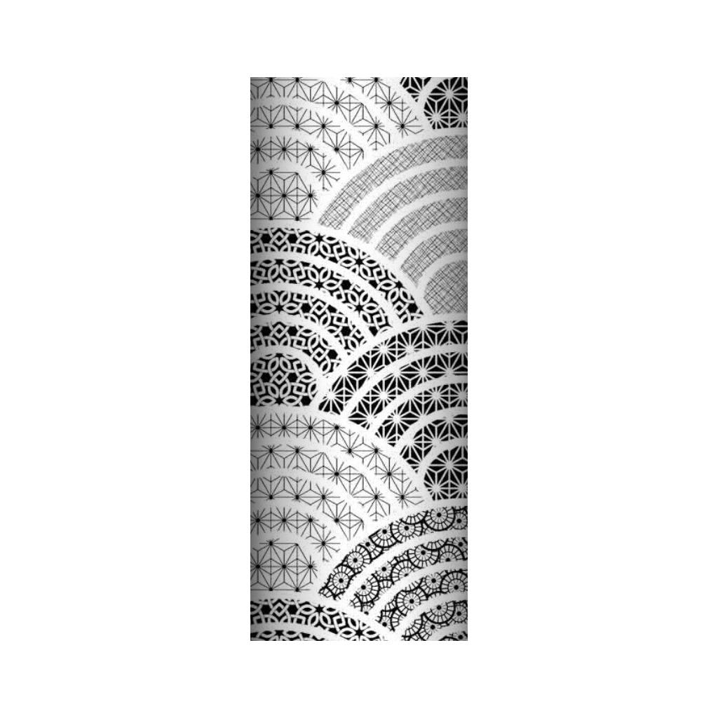 Tkanina geometryczna kalejdoskop czarny