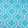 Tkanina Mozaika orientalna biała na turkusowym tle