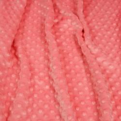 Materiał Minky Grube 380gm/2 mrożona truskawka