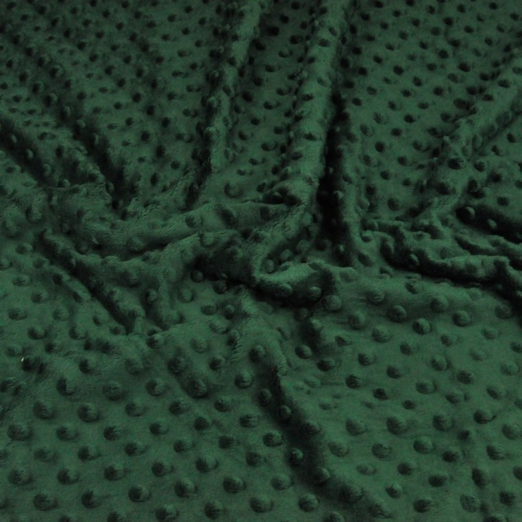 Materiał Minky Grube 380gm/2 zielony butelkowy