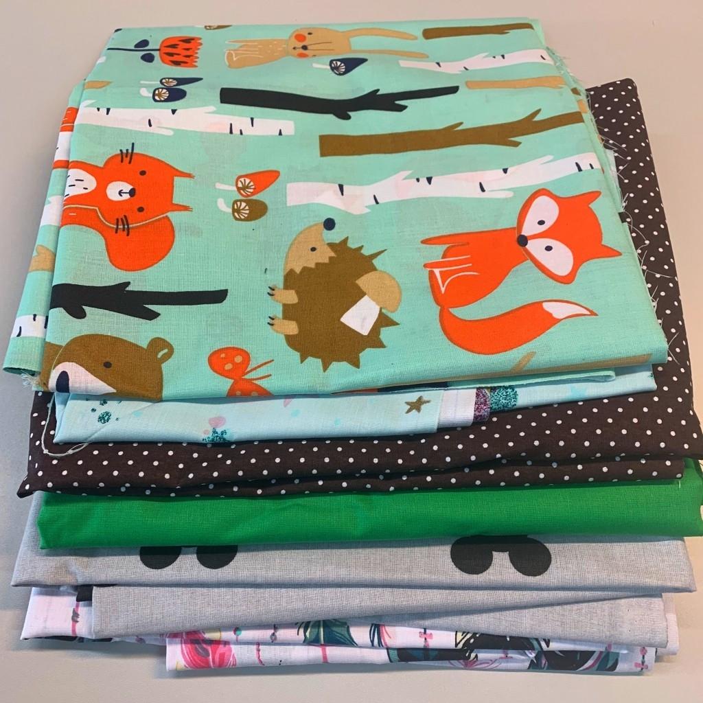 Ścinki tkanin bawełnianych , końcówki - 1kg