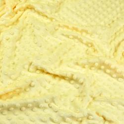 Materiał Minky jasny żółty