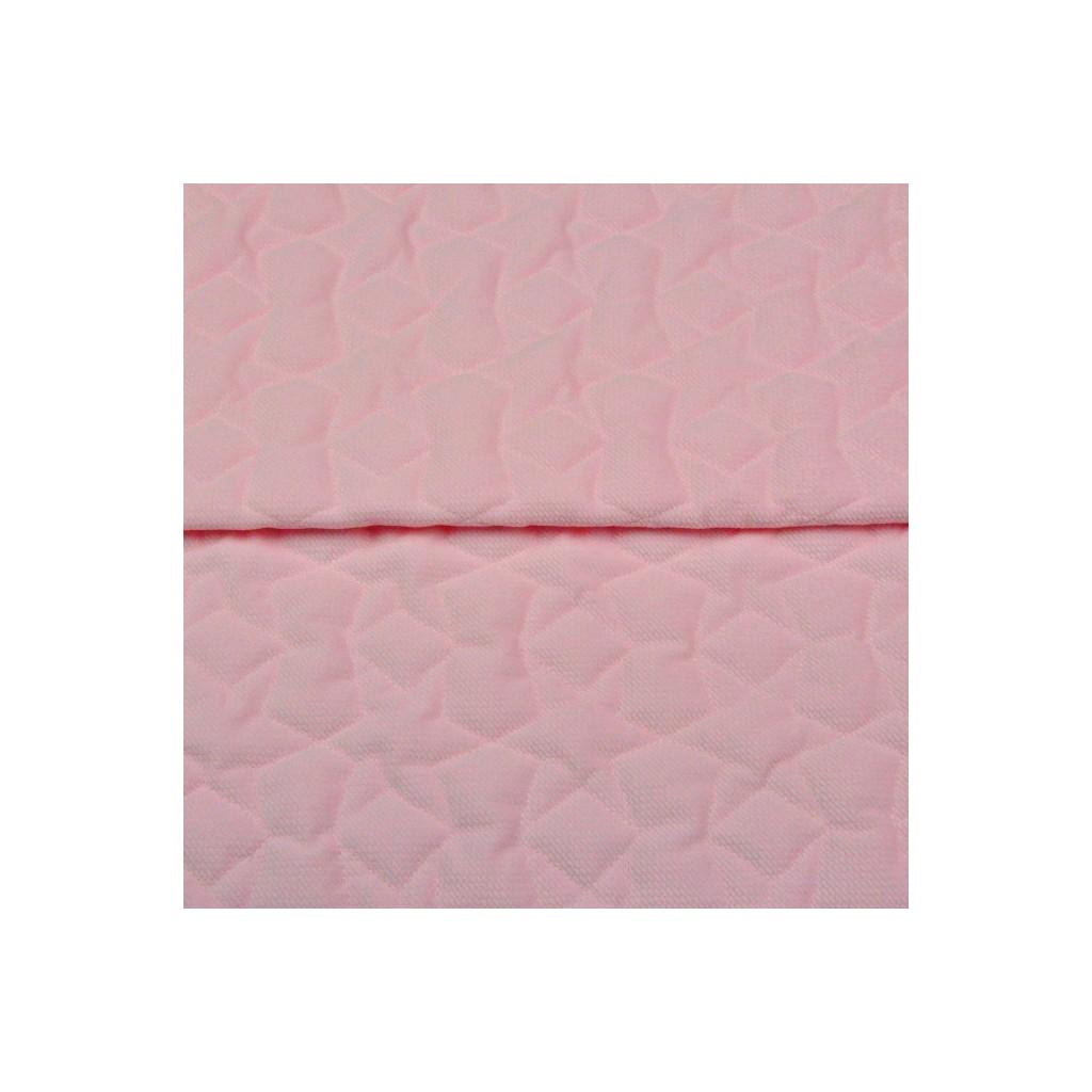 Velvet pikowany jasny róż - gwiazdki
