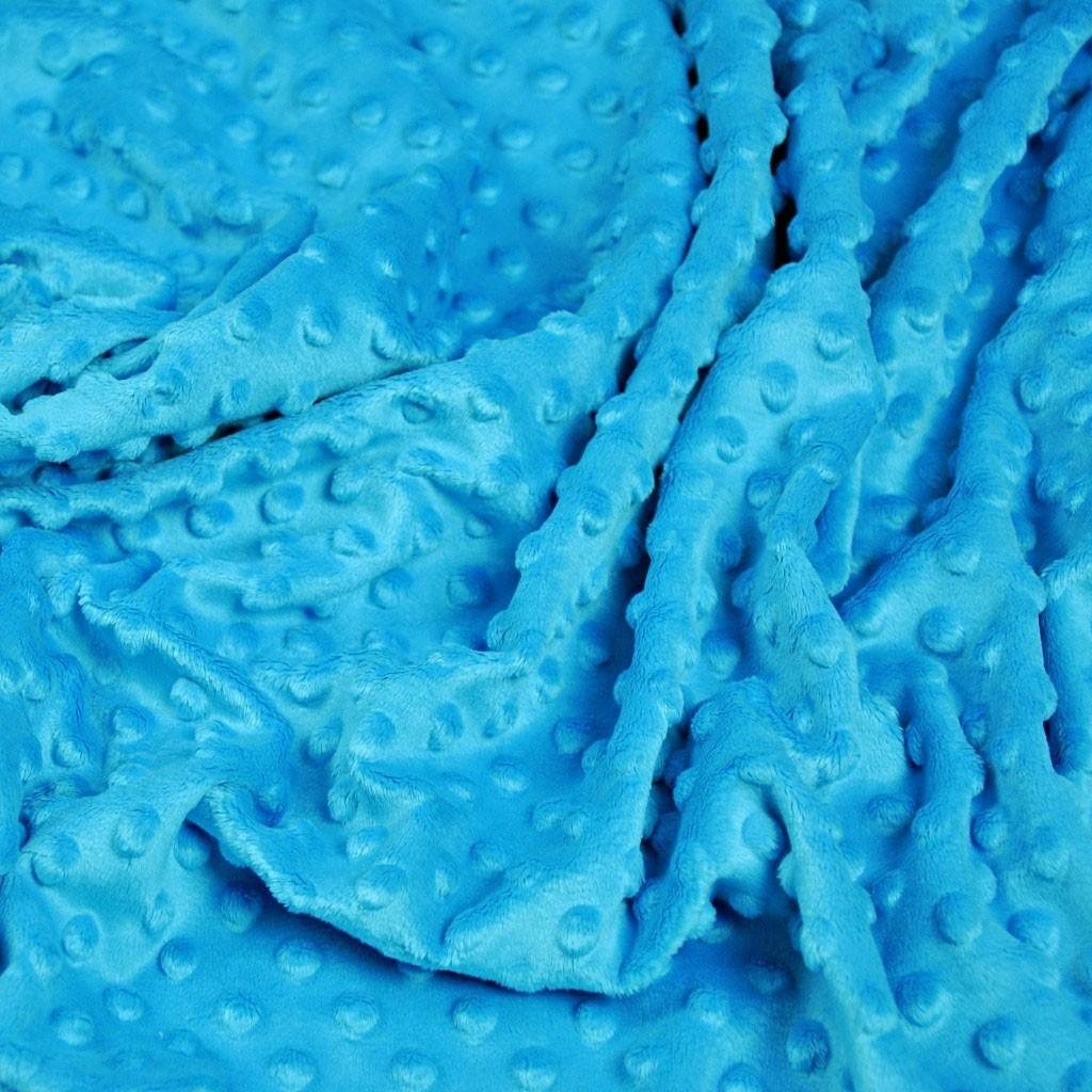 Materiał Minky Premium niebieski (Azure)