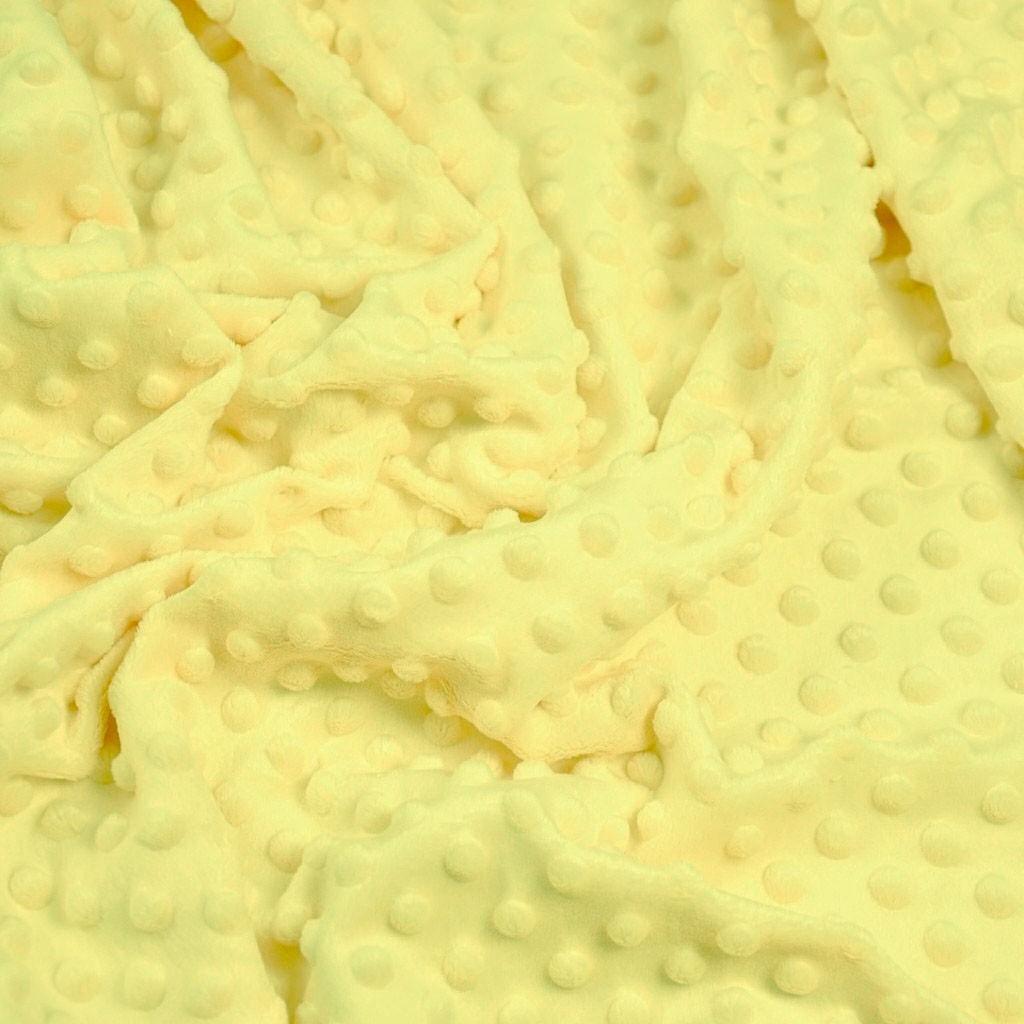 Materiał Minky Premium jasny żółty