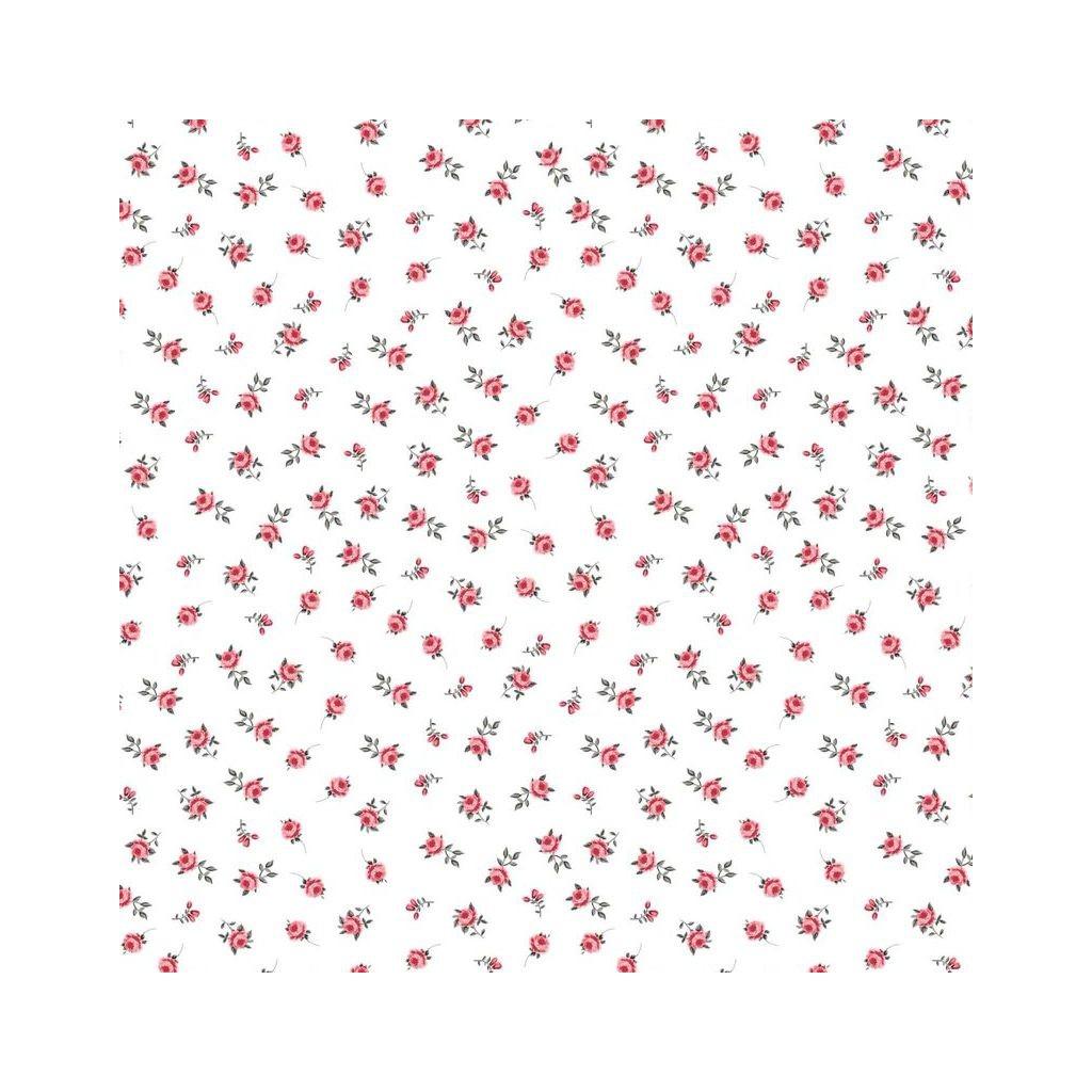 Tkanina różyczka na białym tle