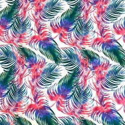 Tkanina liście kolorowe na białym tle