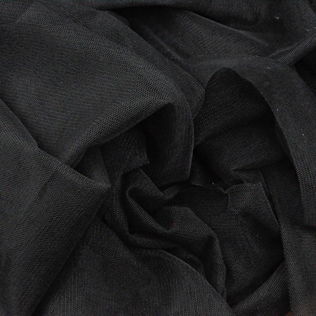 Tiul ubraniowy czarny miękki