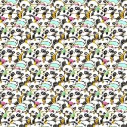 Imagén: złocona pandy śpiące na białym tle
