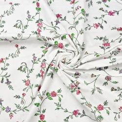 Tkaniny w kwiaty goździki różowe na białym tle