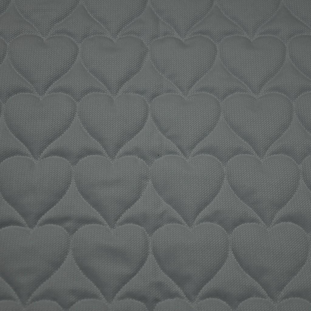 Velvet pikowany ciemny szary 12 - serduszka