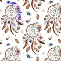 Imagén: łapacz snów brązowy na białym tle