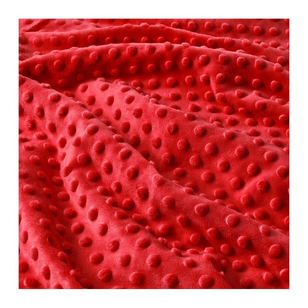 Materiał Minky Grube 350gm/2 czerwony