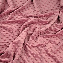 Materiał Minky Grube 350gm/2 brudny róż