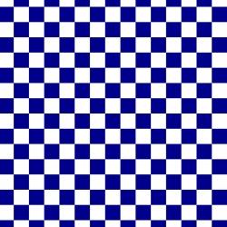 Tkanina szachownica 2cm biało granatowa