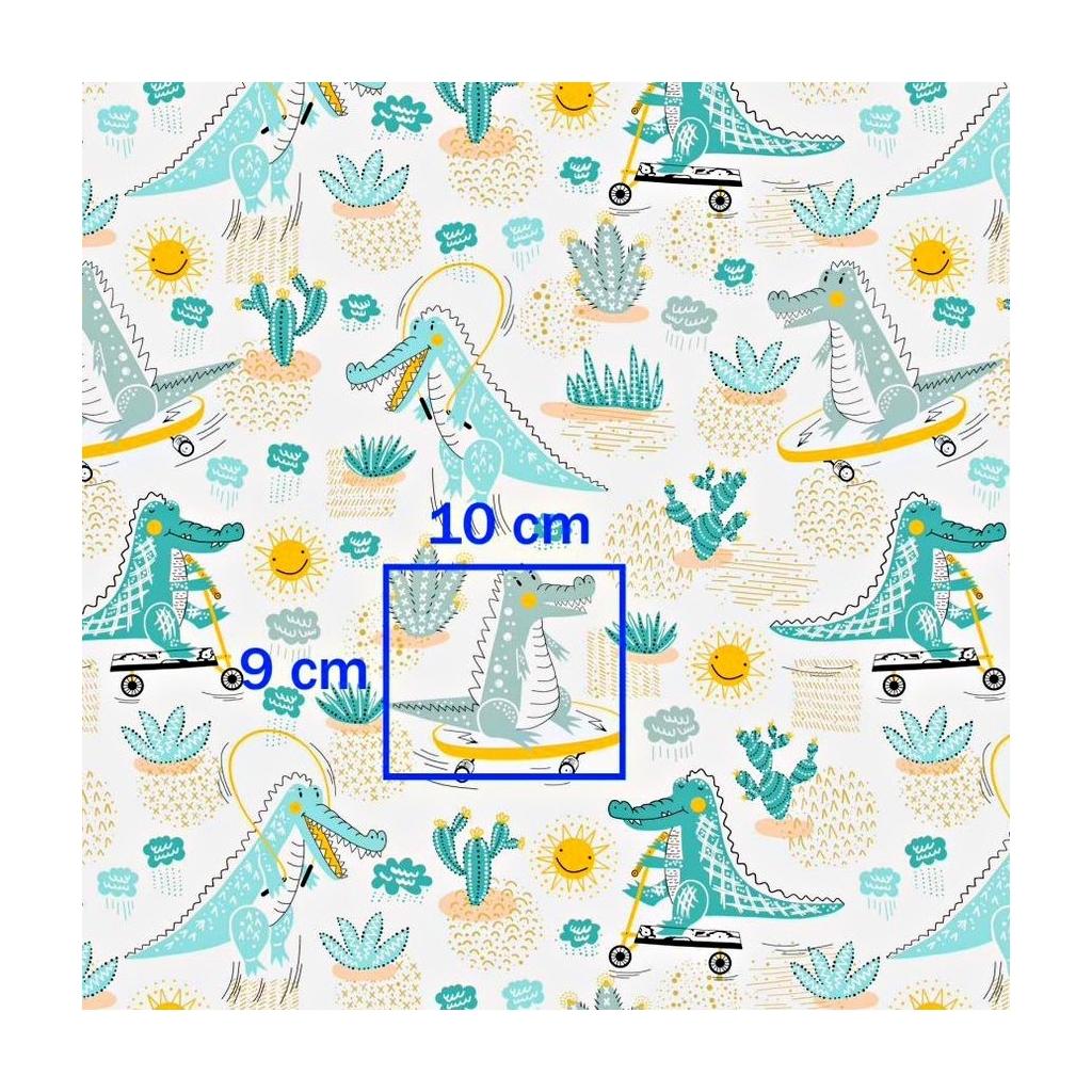 Tkanina w krokodyle miętowe na deskorolkach na białym tle