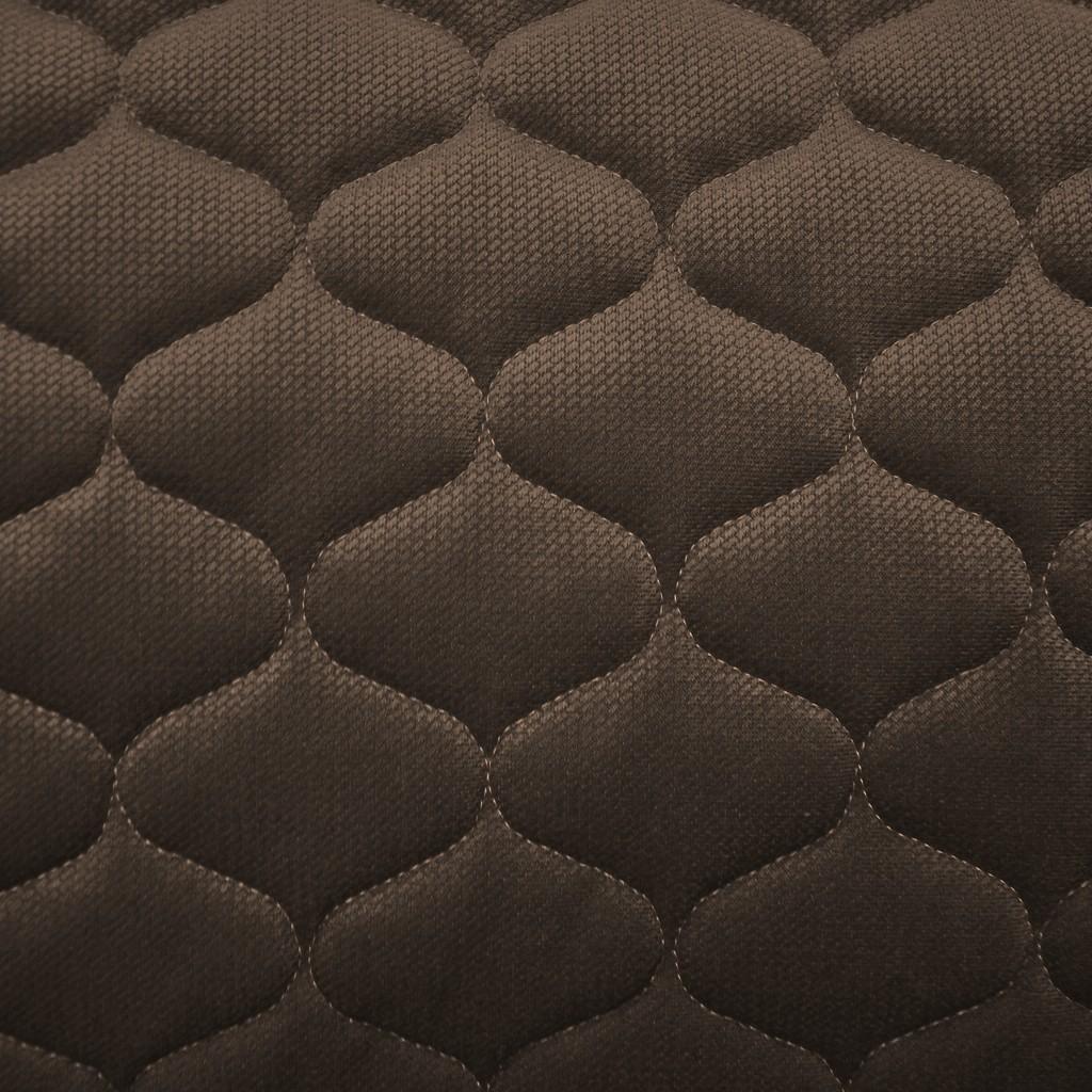 Velvet pikowany brązowy - bączki