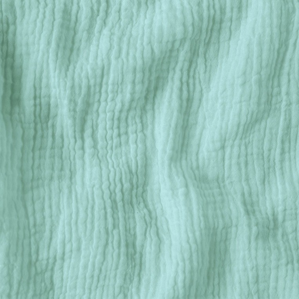 Tkanina Muślin double gauze pastelowy miętowy (Pastel Blue)