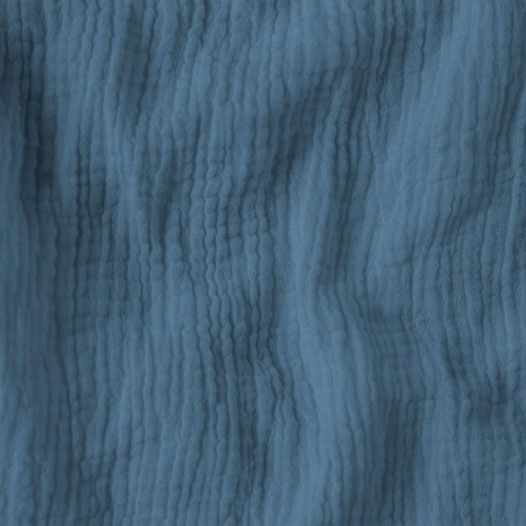 Tkanina Muślin double gauze pastelowy ciemny niebieski (Faded Denim)