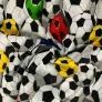 Tkanina Kora bawełniana piłki kolorowe na białym tle