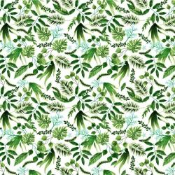 Tkanina zagajnik zielony na białym tle