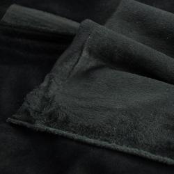Tkanina aksamit Poliestrowy czarny