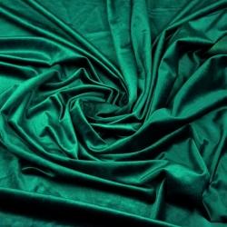 Tkanina aksamit Poliestrowy butelkowy zielony