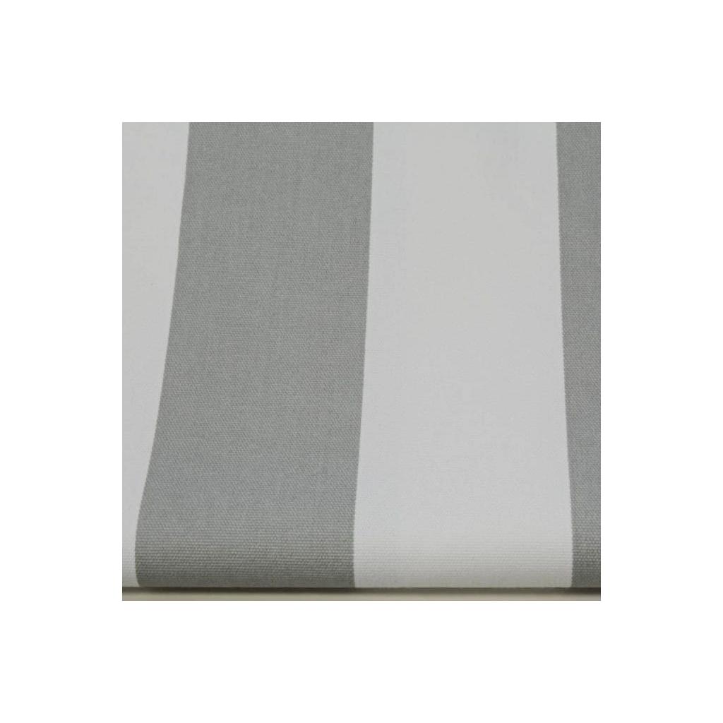 Tkanina w pasy 6cm biało szare