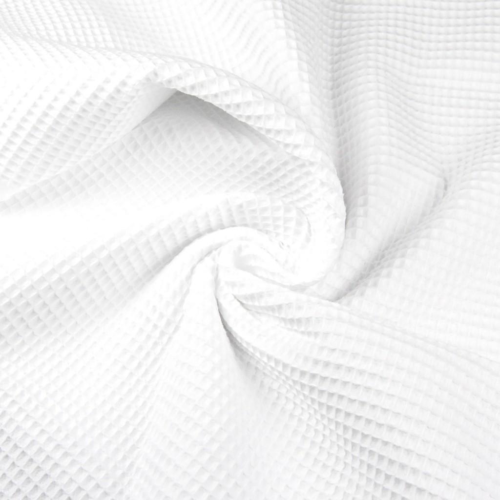 Tkanina wafel bawełniany biały