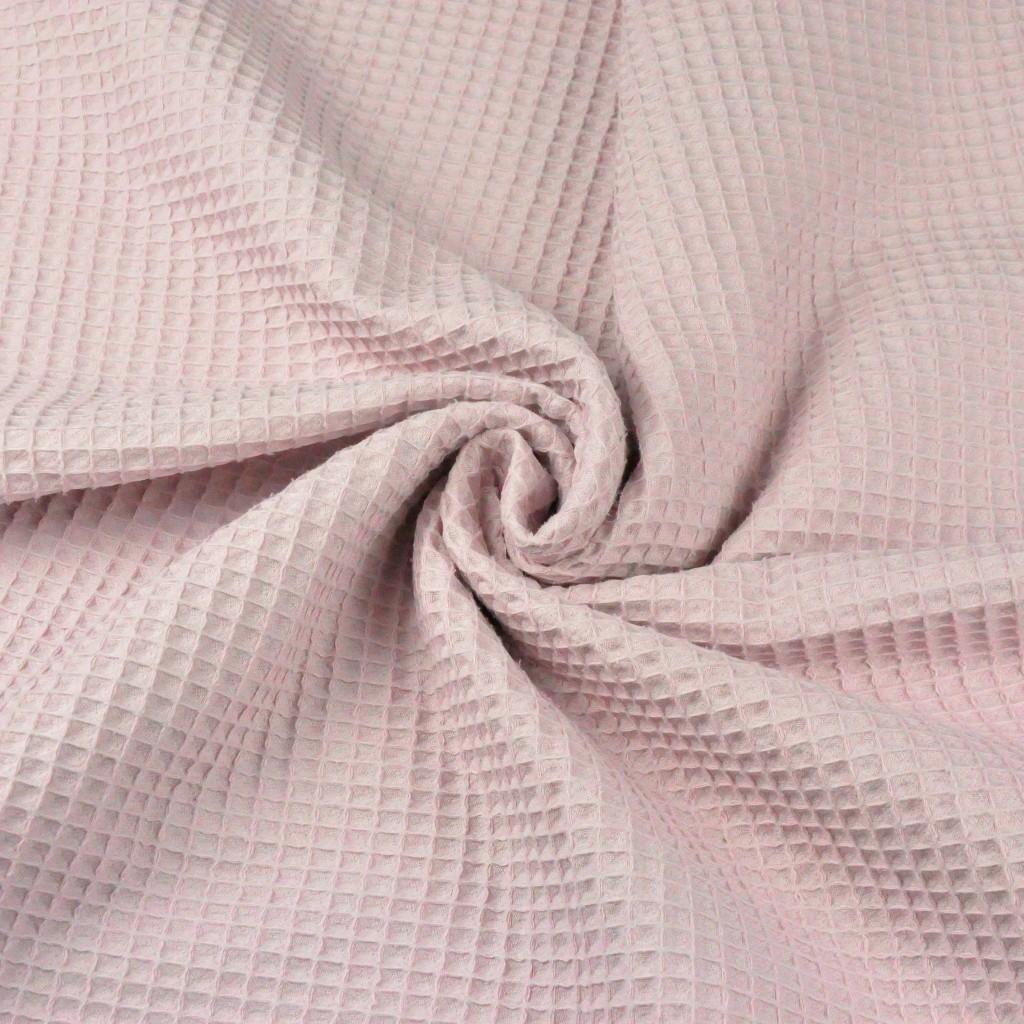 Tkaniny wafel bawełniany jasny brudny róż