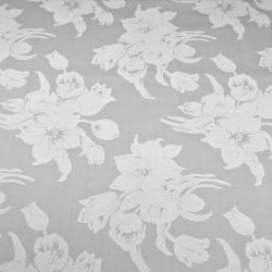 Tkanina w kwiaty białe szarym tle 220cm