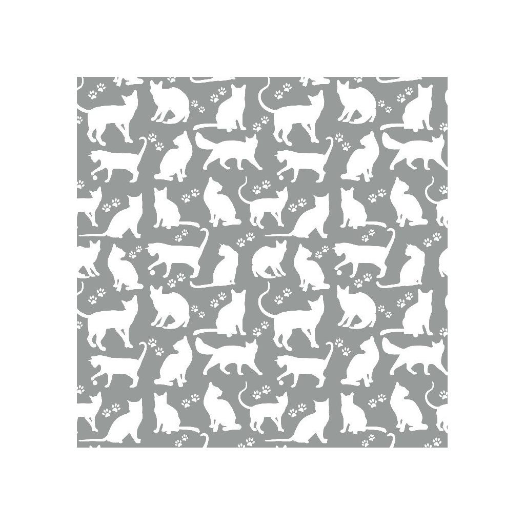 Tkanina w kotki kontury białe na szarym tle